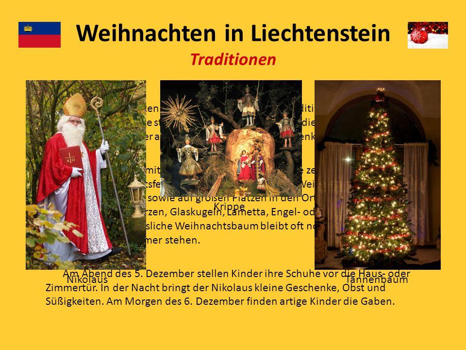 Krippe Den ursprünglichsten Weihnachtsbrauch ist die Tradition des Krippenspiels. Die Weihnachtsgeschichte stellt man anschaulich dar. Um die Krippe v