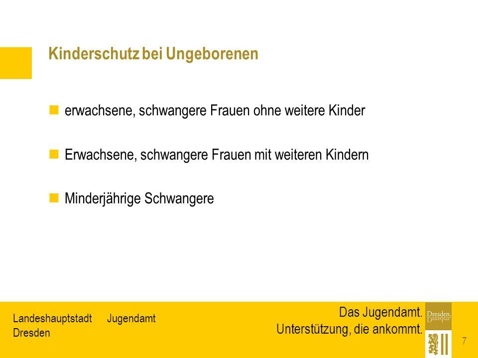 JugendamtLandeshauptstadt Dresden Das Jugendamt. Unterstützung, die ankommt. Kinderschutz bei Ungeborenen erwachsene, schwangere Frauen ohne weitere K
