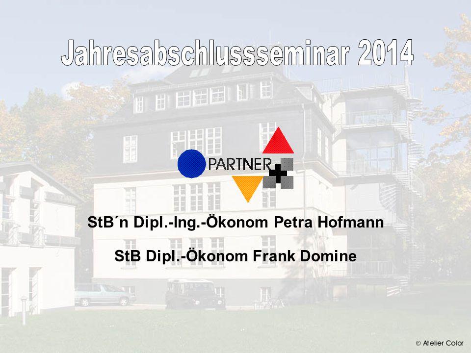Hofmann & Domine StbG JAHRESABSCHLUSSSEMINAR 2014 112 4.2 Eigenkapitalrentabilität Die Eigenkapitalrentabilität stellt die Verzinsung des Eigen- kapitals dar.