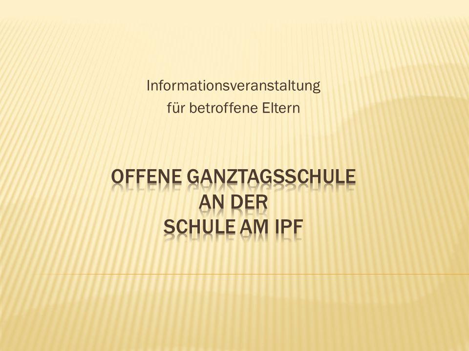Fragebogen zum Bedarf einer Ganztagsgrundschule an der Schule am Ipf Die Stadt Bopfingen plant an der Schule am Ipf die Einführung einer offenen Ganztagsschule zum Schuljahr 2016/17.