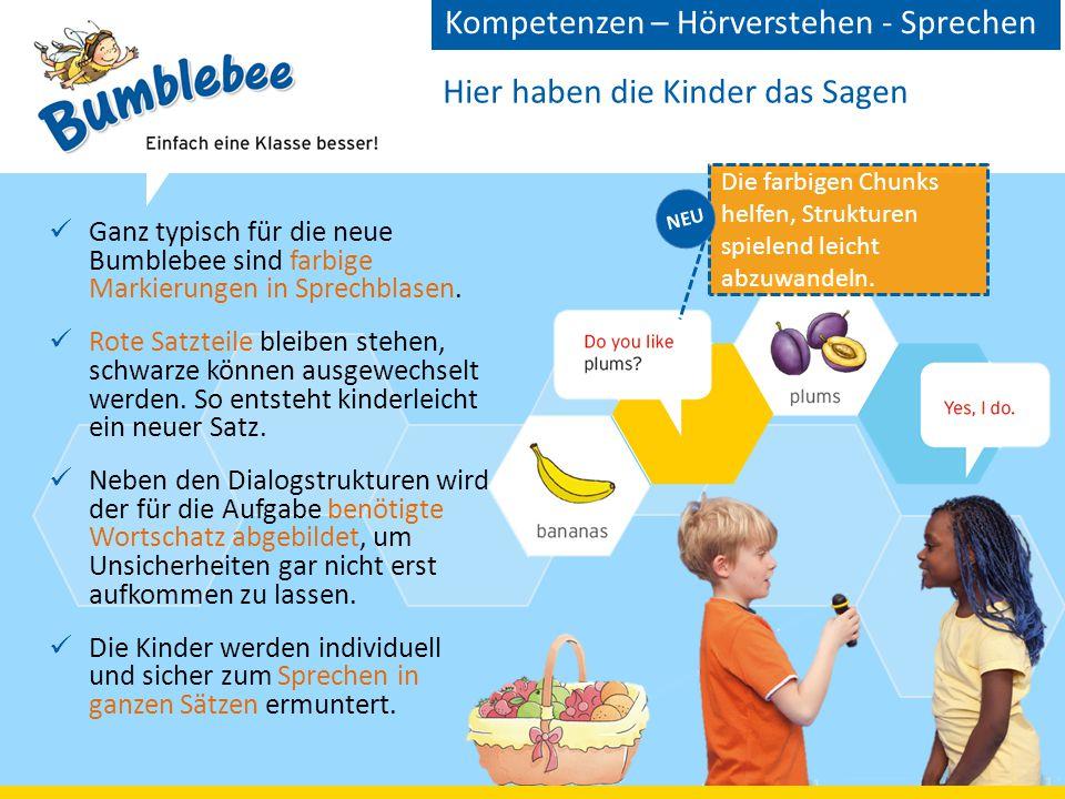Hier haben die Kinder das Sagen Ganz typisch für die neue Bumblebee sind farbige Markierungen in Sprechblasen.