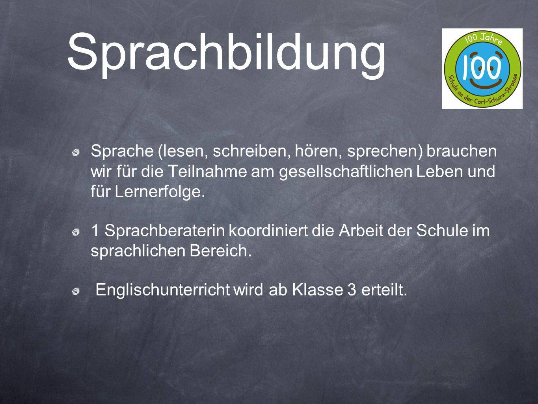 Sprache (lesen, schreiben, hören, sprechen) brauchen wir für die Teilnahme am gesellschaftlichen Leben und für Lernerfolge. 1 Sprachberaterin koordini