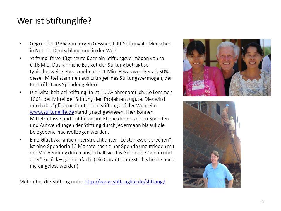 Eine Auswahl von Projekten von Stiftunglife Tafeln in Deutschland - wir helfen den lokalen Vereinen der Tafel mit der Anschaffung von Kühltransportern.