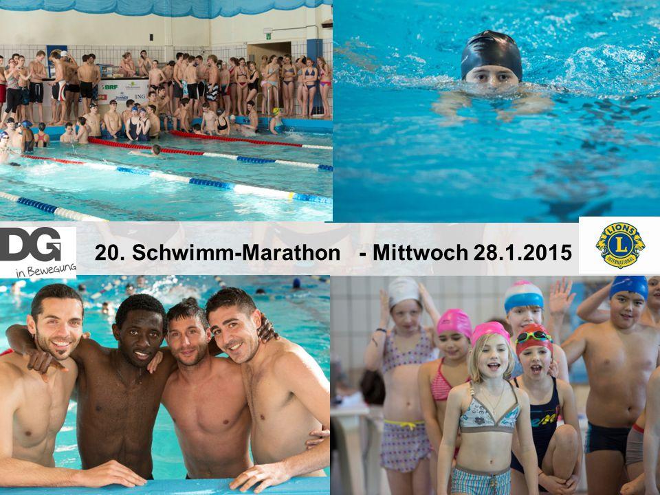 20. Schwimm-Marathon - Mittwoch 28.1.2015