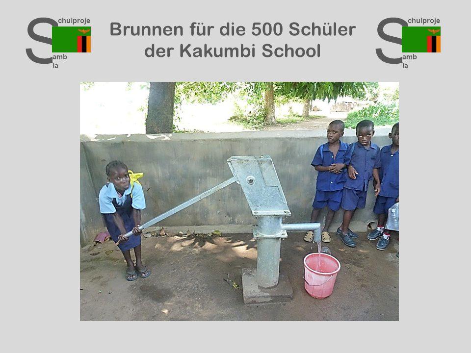 S chulproje kte amb ia S chulproje kte amb ia S chulproje kte amb ia Brunnen für die 500 Schüler der Kakumbi School