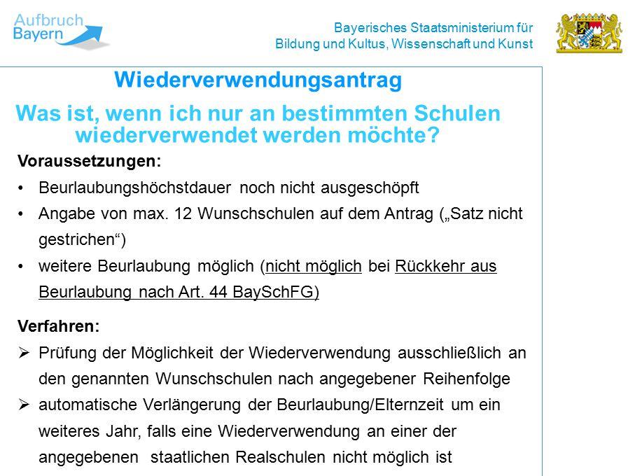 Bayerisches Staatsministerium für Bildung und Kultus, Wissenschaft und Kunst Wie erfahre ich, dass ich versetzt werde.