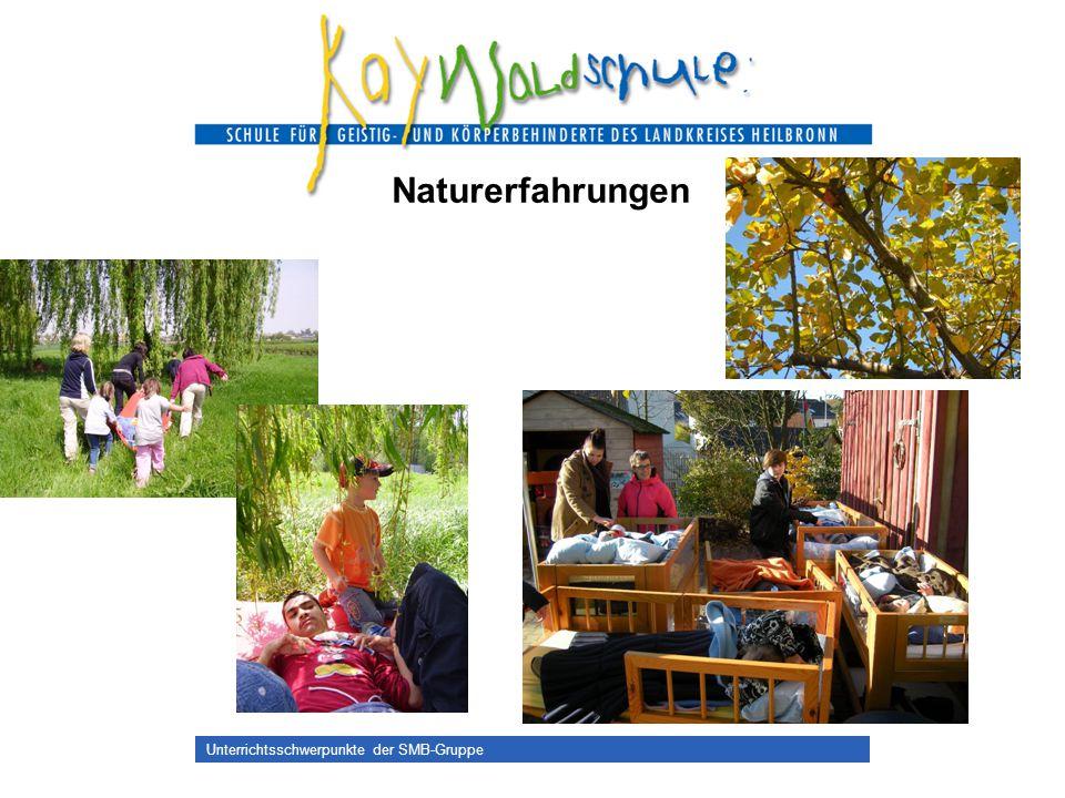 Unterrichtsschwerpunkte der SMB-Gruppe Naturerfahrungen
