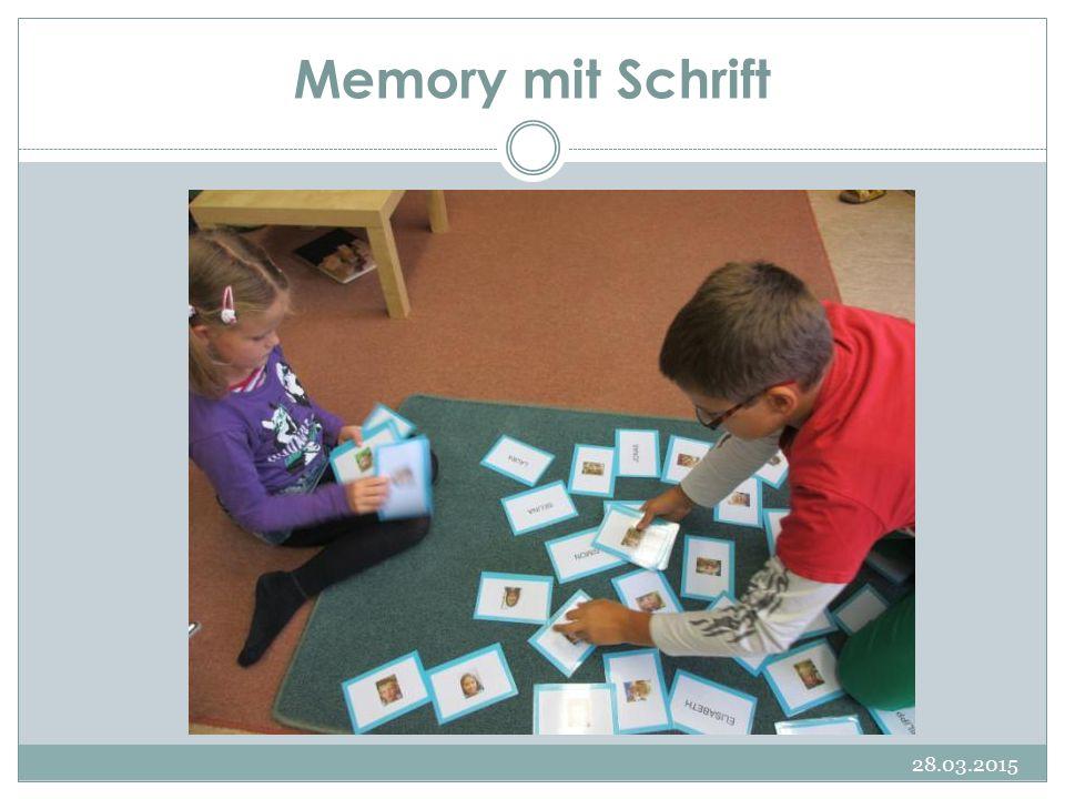 Memory mit Schrift