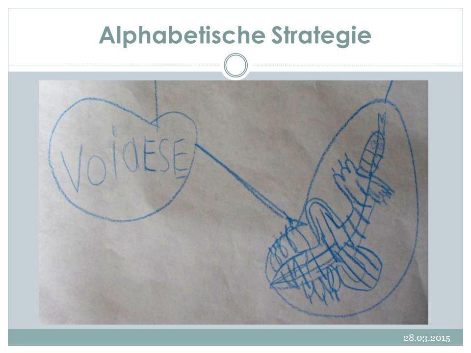 Alphabetische Strategie 28.03.2015