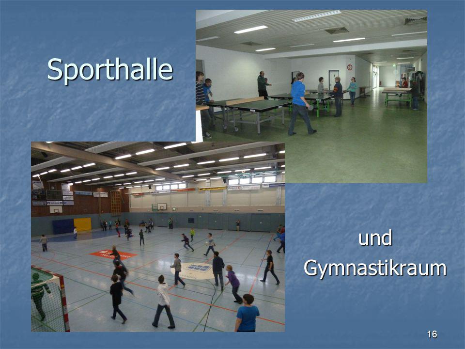 Sporthalle undGymnastikraum 16