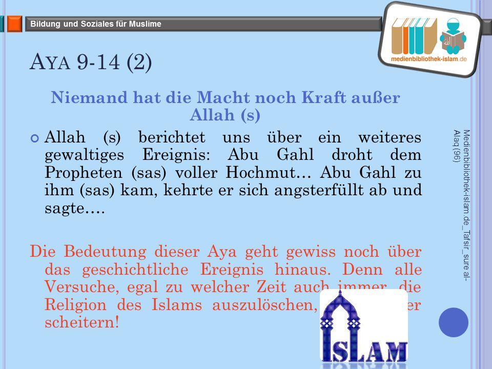 A YA 15-18 Allah (s) ist der gerechteste Richter.(15) Nein.