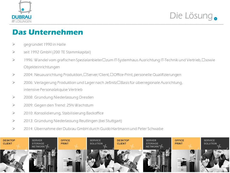  gegründet 1990 in Halle  seit 1992 GmbH (200 TE Stammkapital)  1996: Wandel vom grafischen Spezialanbieter zum IT-Systemhaus Ausrichtung IT-Techni