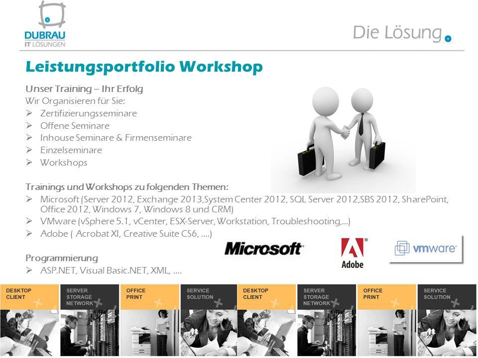 Unser Training – Ihr Erfolg Wir Organisieren für Sie:  Zertifizierungsseminare  Offene Seminare  Inhouse Seminare & Firmenseminare  Einzelseminare