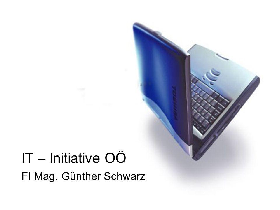 IT/INF – Initiative OÖ IT - Unterstufe 1.eLSA – eLearning im Schulalltag (6 Schulen, €60.000.-) 2.IT Einsatz in D(1.Kl.), E(2.Kl.), M(3.Kl.), BU, BE, GS (€ 6.000.-) IT - Oberstufe 1.Informatik 5.