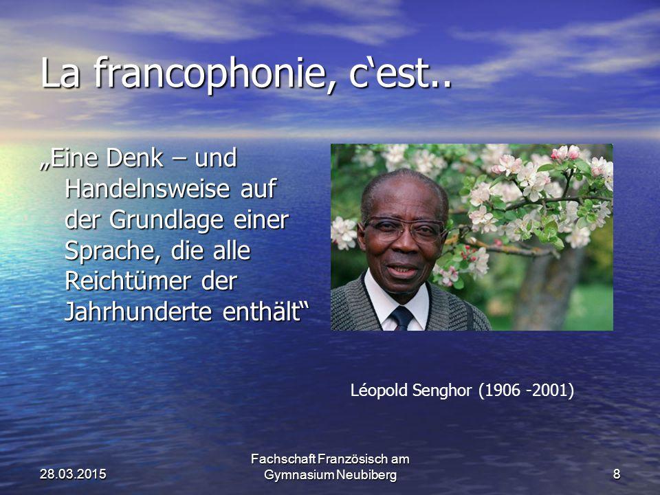 Einführung Frankophonie Frankophonie 180 Millionen Menschen in über 50 Ländern der Welt 180 Millionen Menschen in über 50 Ländern der Welt Globalisier