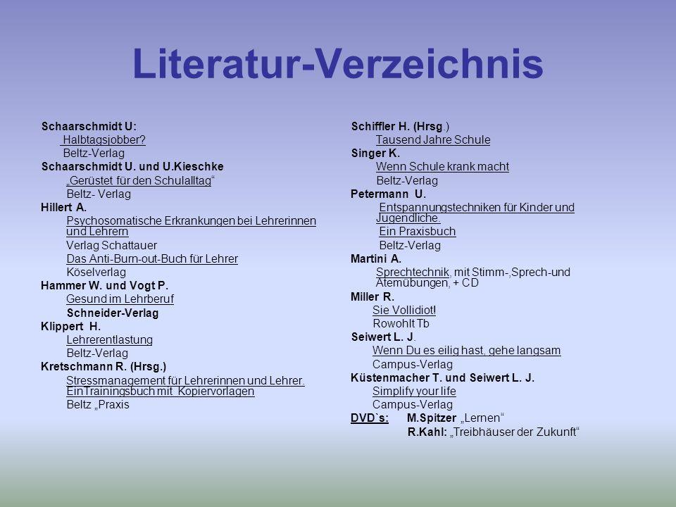 Literatur-Verzeichnis Schaarschmidt U: Halbtagsjobber.