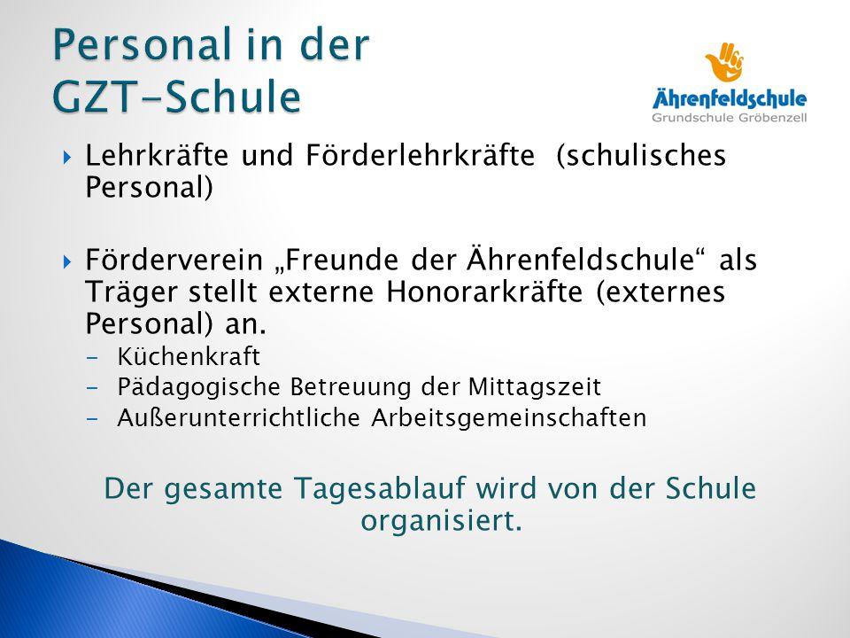 Aktuelle externe Kräfte:  Mitarbeiter der Musikschule  Natur- und Umwelterziehung Geplant evtl.