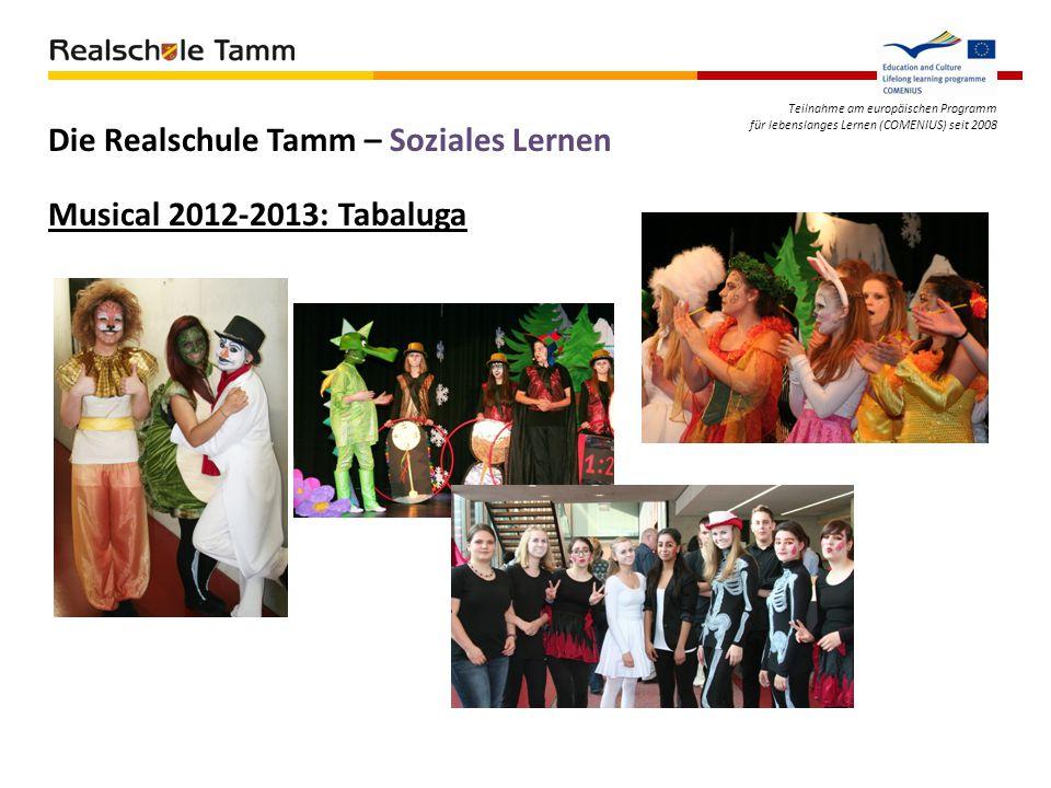 Teilnahme am europäischen Programm für lebenslanges Lernen (COMENIUS) seit 2008 Die Realschule Tamm – Soziales Lernen Musical 2012-2013: Tabaluga