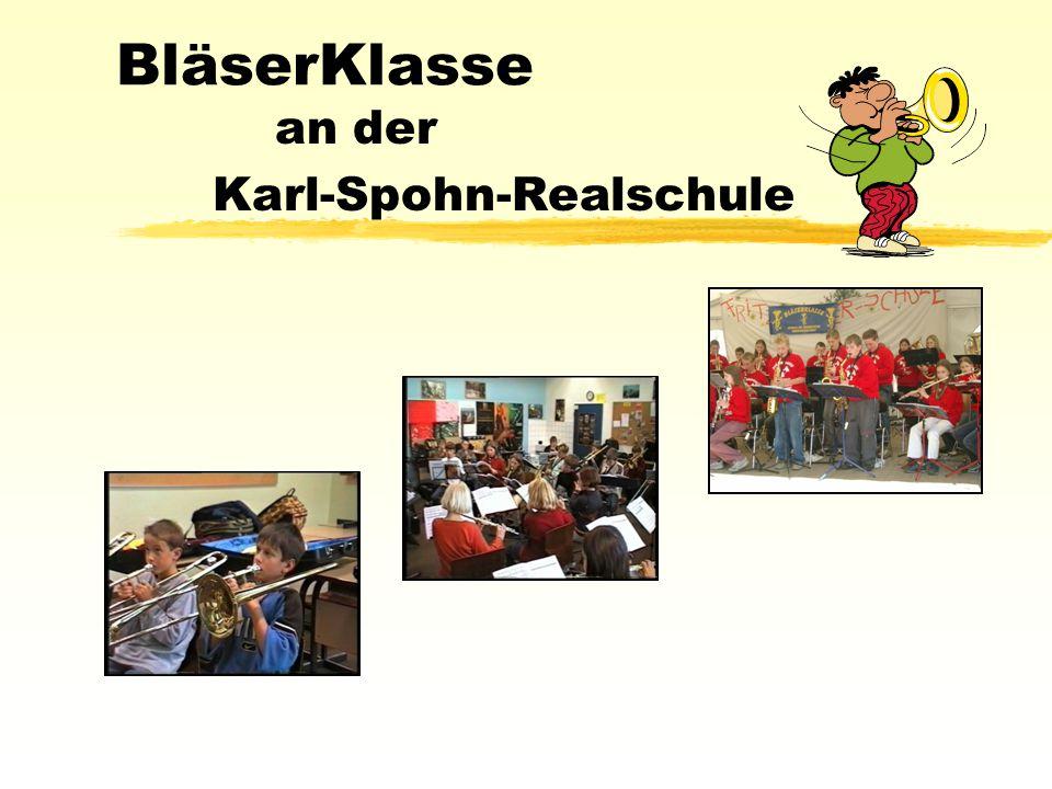 BläserKlasse an der Karl-Spohn-Realschule