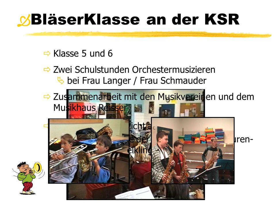 BläserKlasse an der KSR  Klasse 5 und 6  Instrumentalunterricht an der Schule  durch Fachkräfte der Musikschule Blaubeuren- Laichingen-Schelklingen