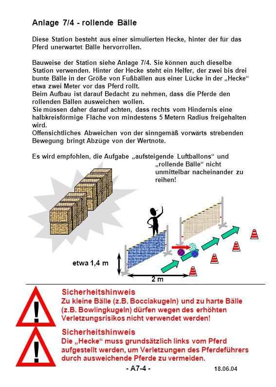 ! Sicherheitshinweis Zu kleine Bälle (z.B. Bocciakugeln) und zu harte Bälle (z.B. Bowlingkugeln) dürfen wegen des erhöhten Verletzungsrisikos nicht ve