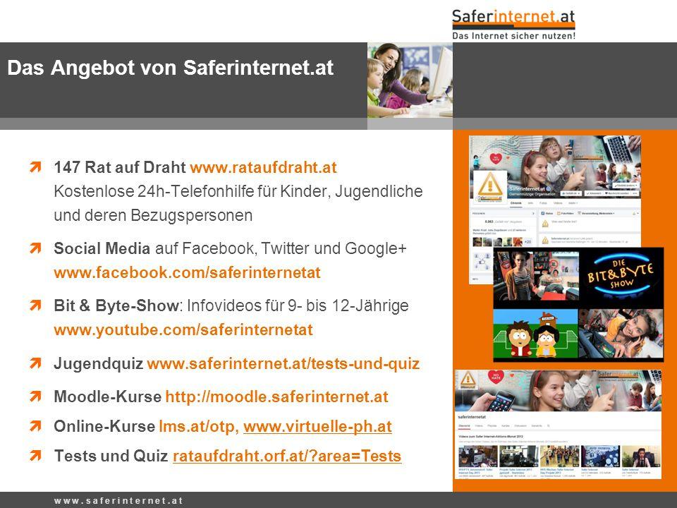  147 Rat auf Draht www.rataufdraht.at Kostenlose 24h-Telefonhilfe für Kinder, Jugendliche und deren Bezugspersonen  Social Media auf Facebook, Twitt