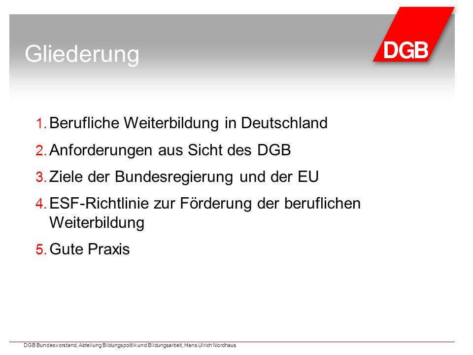 Gliederung 1. Berufliche Weiterbildung in Deutschland 2.