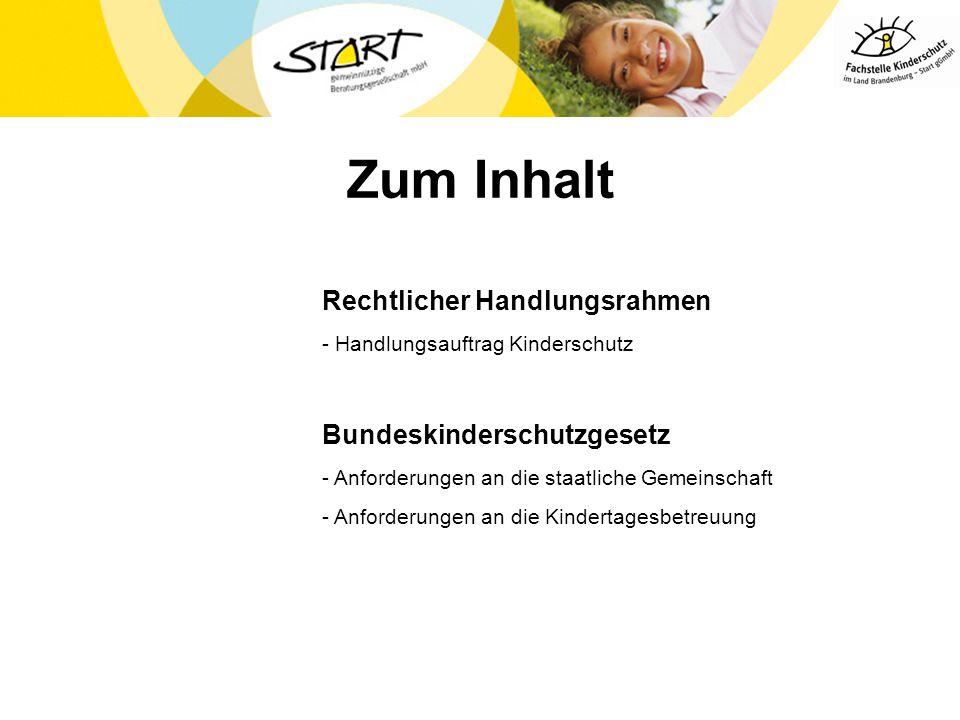 Der Schutzauftrag bei Kindeswohlgefährdung Grundgesetz Bürgerliches Gesetzbuch Landesverfassung Brandenburg Kinder- und Jugendhilfegesetz – SGB VIII