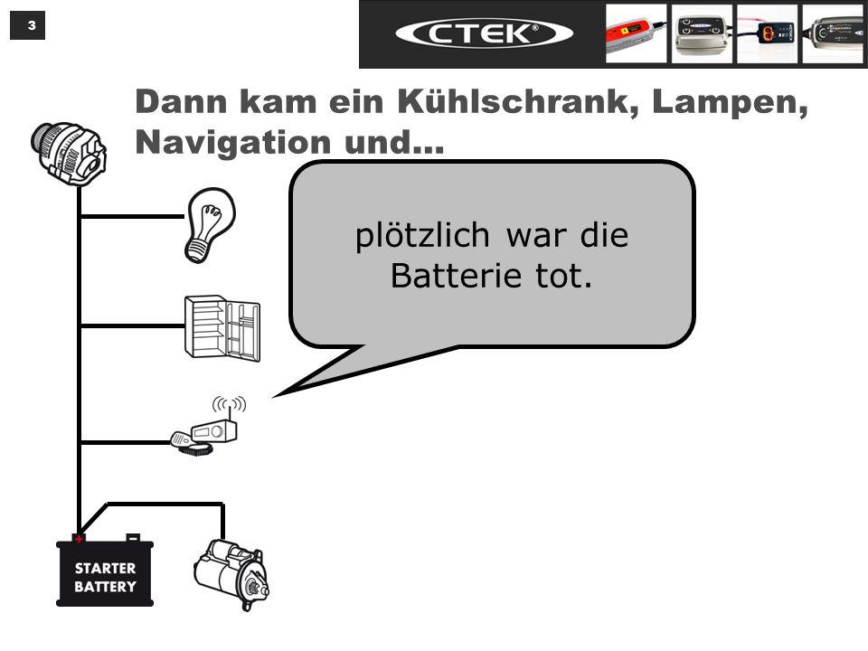 3 Dann kam ein Kühlschrank, Lampen, Navigation und… plötzlich war die Batterie tot.