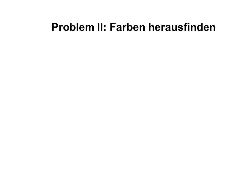 Problem II: Farben herausfinden