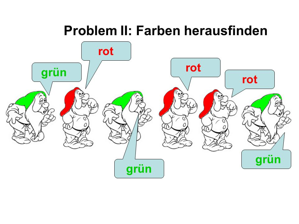 ??? grün rot grün rot grün Problem II: Farben herausfinden