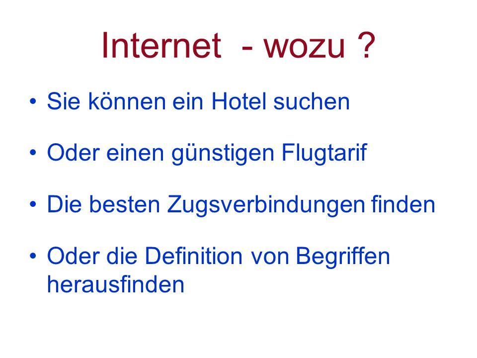 Internet - wozu .