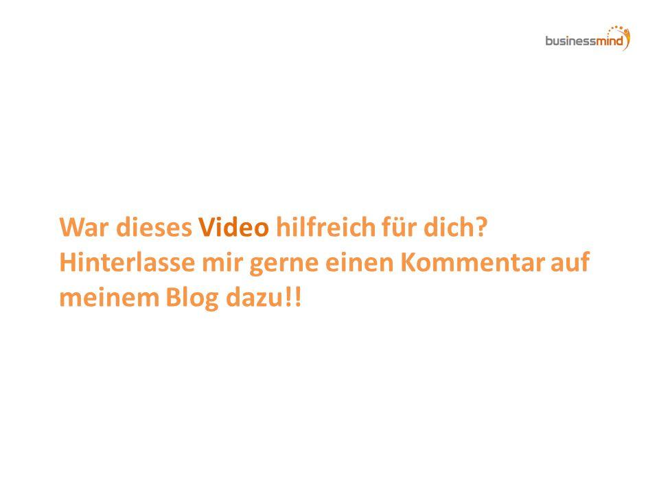 War dieses Video hilfreich für dich Hinterlasse mir gerne einen Kommentar auf meinem Blog dazu!!