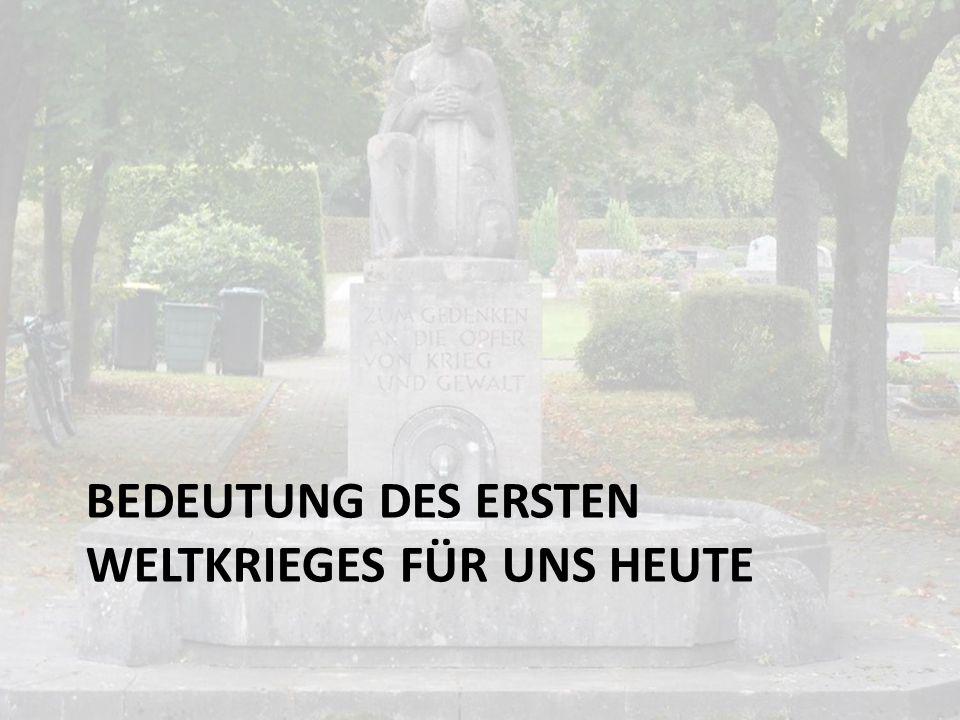 """Die Rolle des ersten Weltkrieges im """"Dritten Reich"""" -Erster Weltkrieg als zentraler Bezugspunkt für den NS-Staat und als Begründung für den zweiten We"""