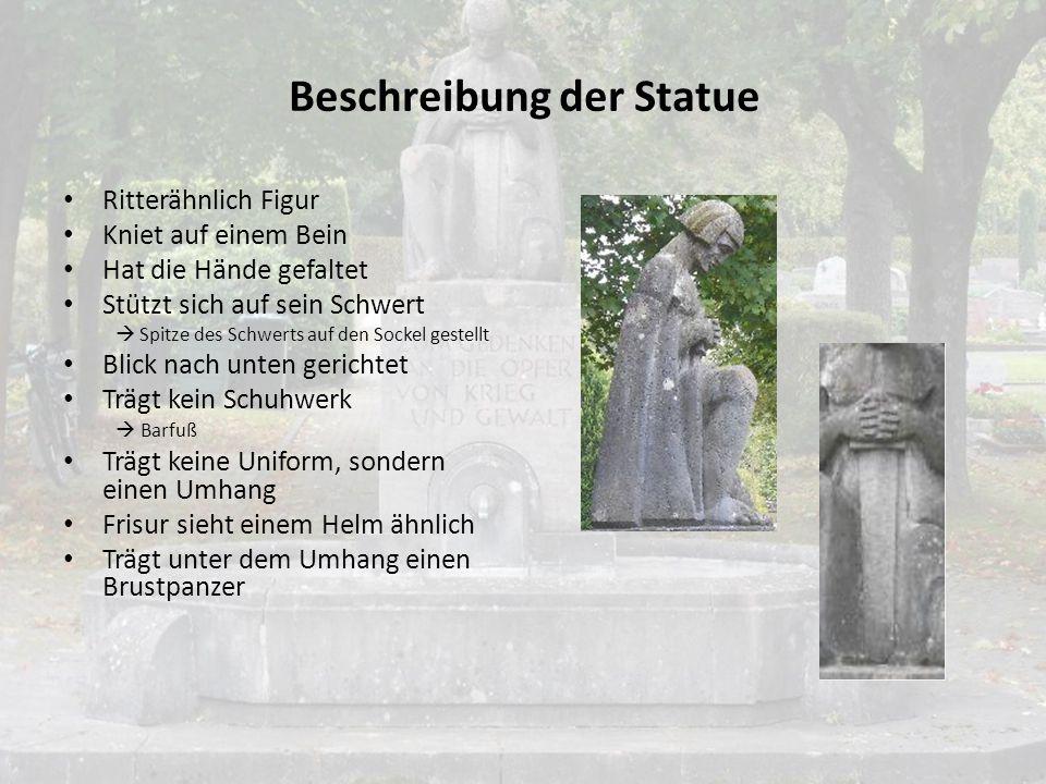 Beschreibung und Interpretation- Denkmal Selters Standort: Friedhof Selters  Steht nicht zentral auf dem Friedhof  Nahe der Leichenhalle Denkmal in