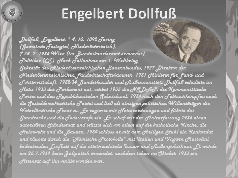 Der von Planetta und Holzweber ermordete Kanzler ist den einen Märtyrer, der für die Freiheit Österreichs sein Leben ließ.