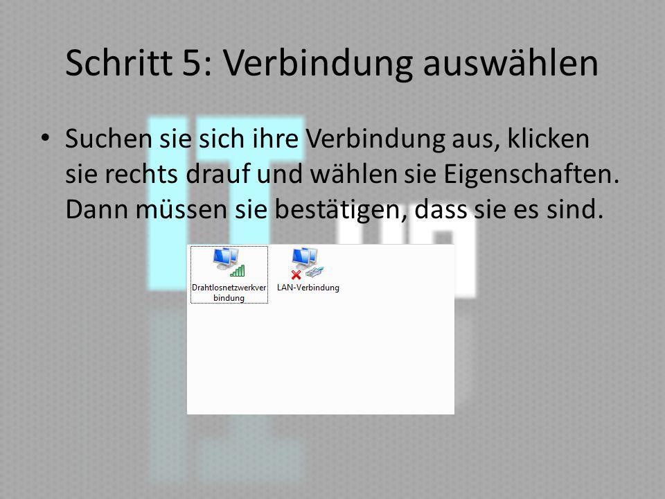 Schritt 6:IP V4 nehmen Dann Eigenschaften