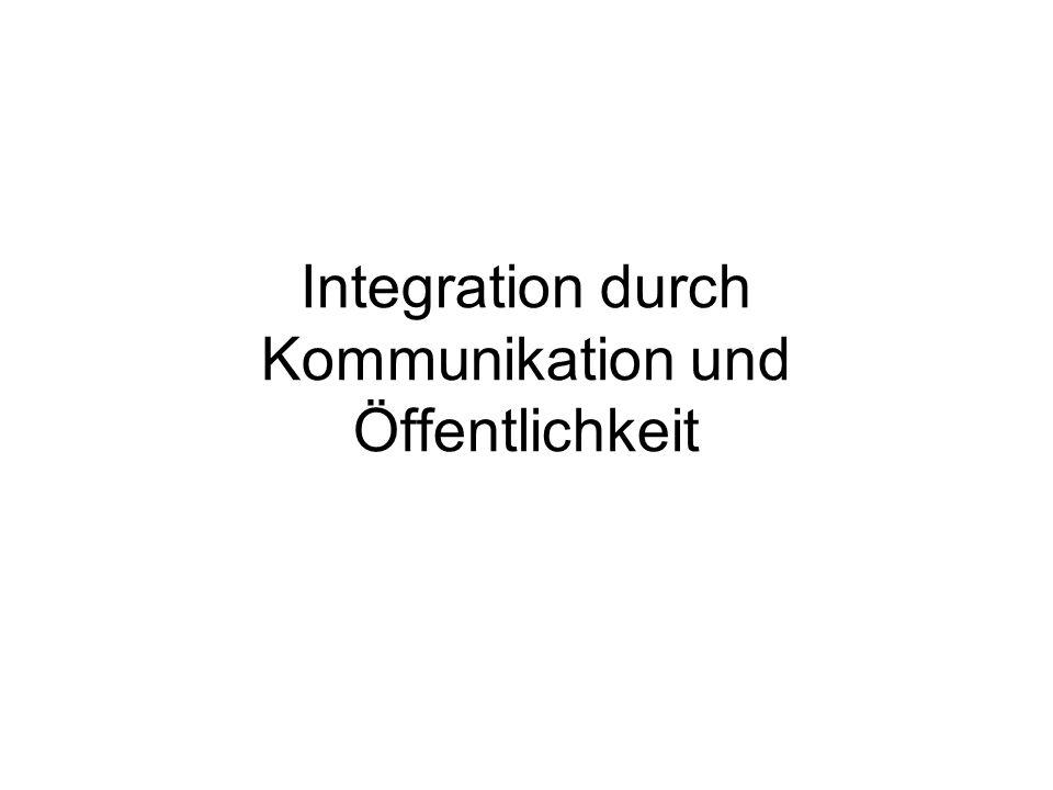 Communication Policy vs.European Public Sphere Schwerpunktverschiebung: Informationsstrategie vs.