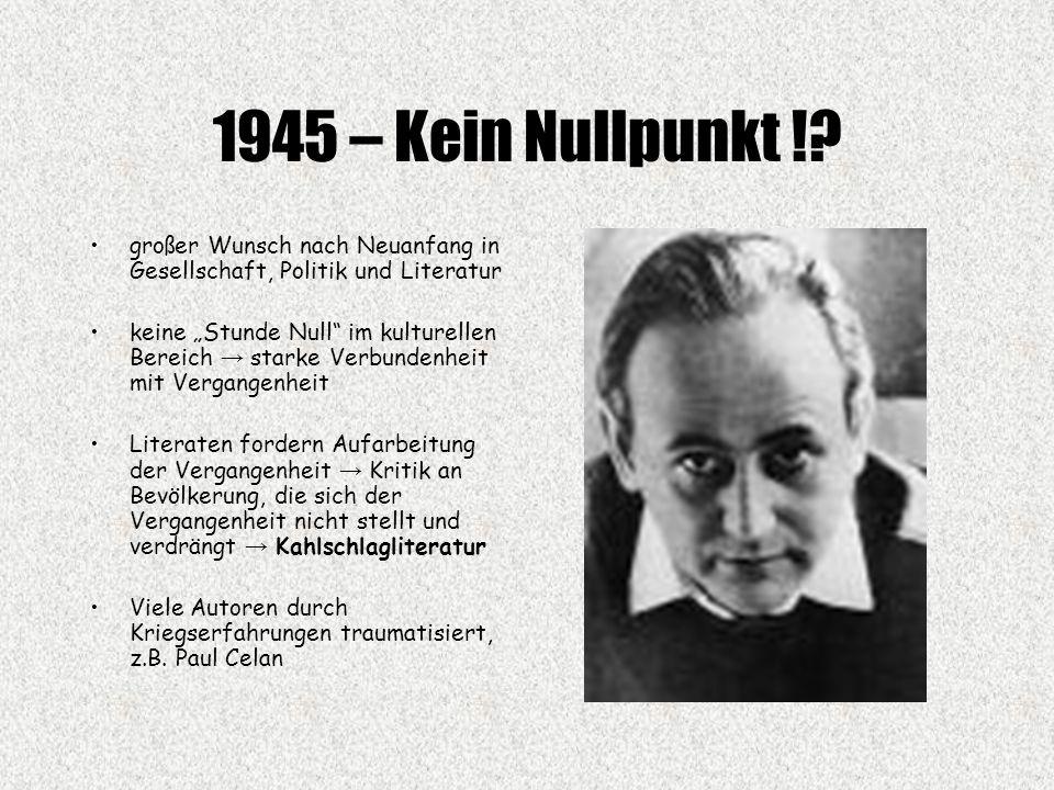 1945 – Kein Nullpunkt !.