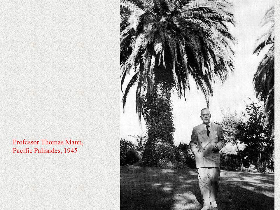 Professor Thomas Mann, Pacific Palisades, 1945