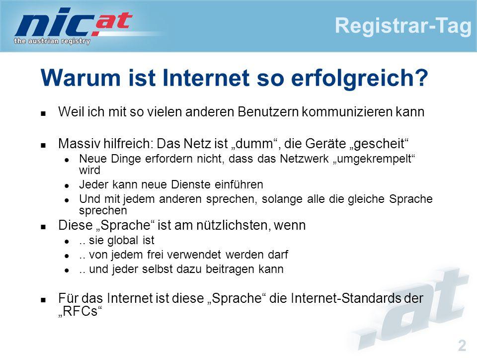 Registrar-Tag 2 Warum ist Internet so erfolgreich.