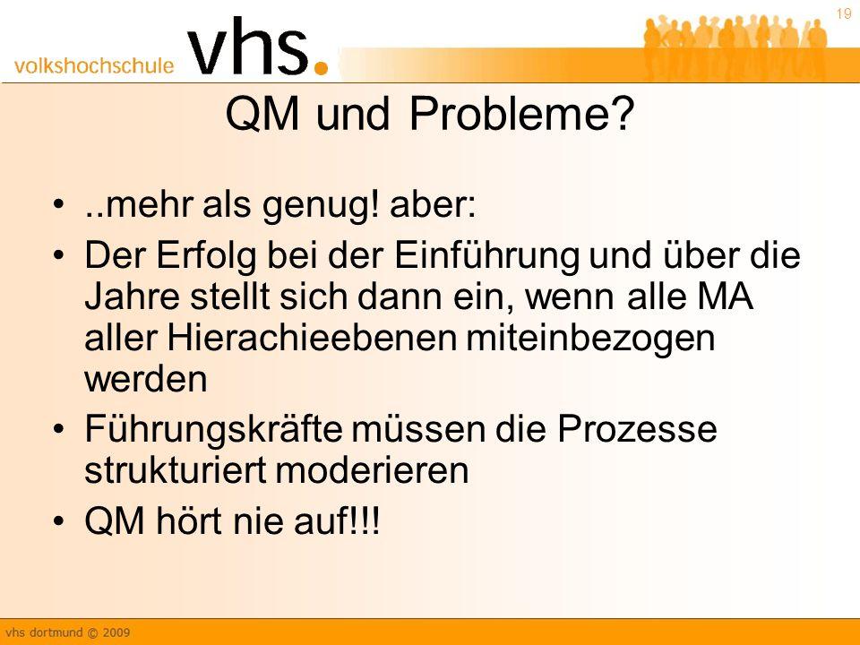 19 QM und Probleme?..mehr als genug.