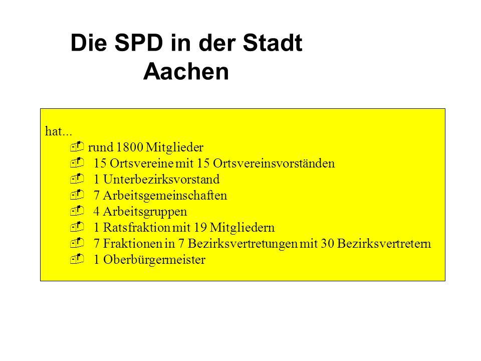 Die SPD in der Stadt Aachen hat...