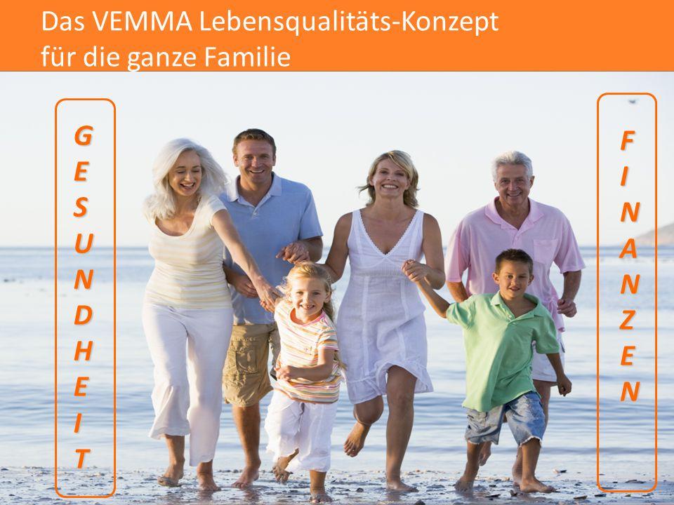 GESUNDHEIT FINANZEN Das VEMMA Lebensqualitäts-Konzept für die ganze Familie