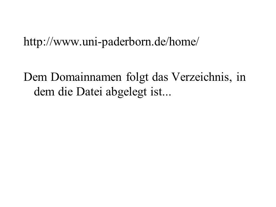 http://www.uni-paderborn.de/home/ Dem Domainnamen folgt das Verzeichnis, in dem die Datei abgelegt ist...