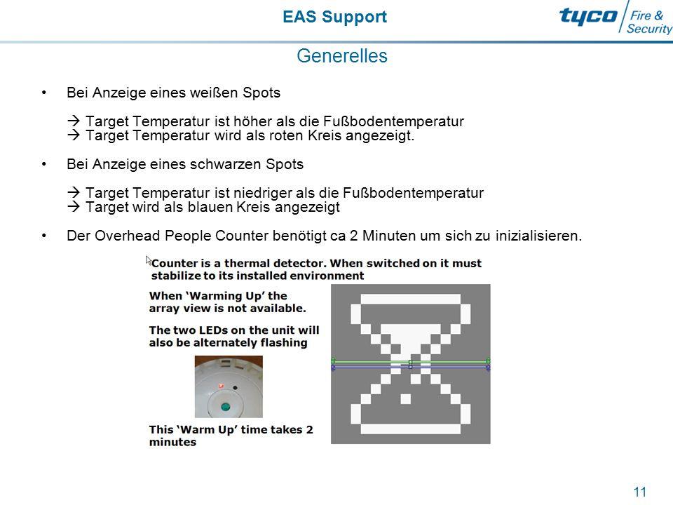 EAS Support 11 Generelles Bei Anzeige eines weißen Spots  Target Temperatur ist höher als die Fußbodentemperatur  Target Temperatur wird als roten K