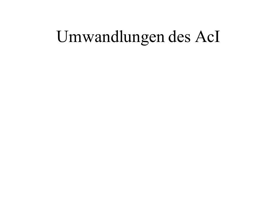 Umwandlungen des AcI