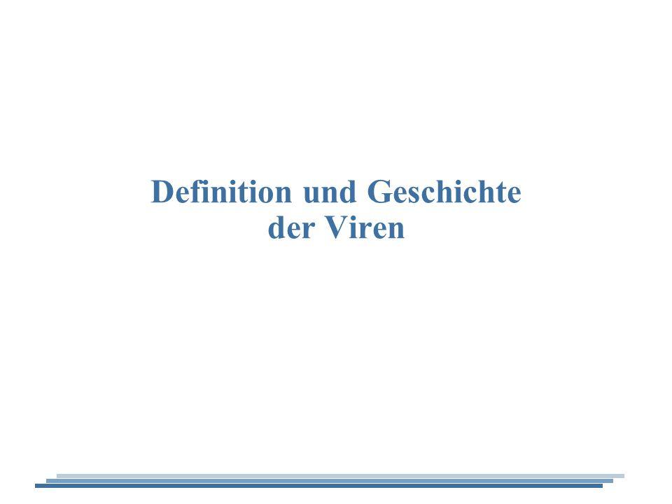 Definition und Geschichte der Viren
