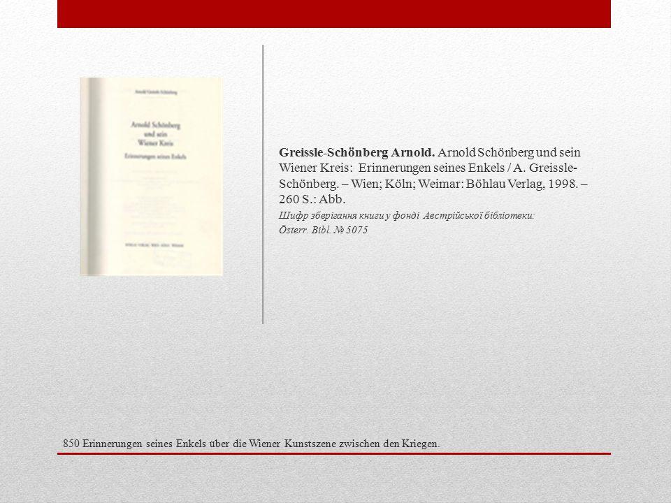 850 Erinnerungen seines Enkels über die Wiener Kunstszene zwischen den Kriegen.