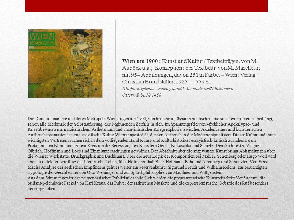 Die Donaumonarchie und deren Metropole Wien trugen um 1900, von beinahe unlösbaren politischen und sozialen Problemen bedrängt, schon alle Merkmale der Selbstauflösung, des beginnenden Zerfalls in sich.